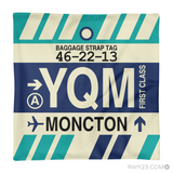 RWY23 - YQM Moncton, New Brunswick Airport Code Throw Pillow - Aviation Gift Travel Gift
