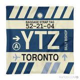 RWY23 - YTZ Toronto, Ontario Airport Code Throw Pillow - Aviation Gift Travel Gift