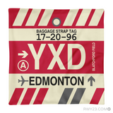 RWY23 - YXD Edmonton, Alberta Airport Code Throw Pillow - Aviation Gift Travel Gift