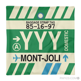 RWY23 - YYY Mont-Joli, Quebec Airport Code Throw Pillow - Aviation Gift Travel Gift