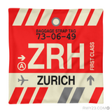RWY23 - ZRH Zurich, Switzerland Airport Code Throw Pillow - Aviation Gift Travel Gift