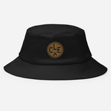 RWY23 - CLE Cleveland Airport Code Bucket Hat - City-Themed Merchandise - Roundel Design with Vintage Airplane - Image 2