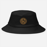RWY23 - LAX Los Angeles Airport Code Bucket Hat - City-Themed Merchandise - Roundel Design with Vintage Airplane - Image 2
