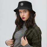 RWY23 - MIA Miami Airport Code Bucket Hat - City-Themed Merchandise - Roundel Design with Vintage Airplane - Image 4