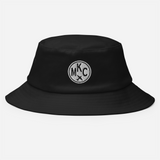 RWY23 - MKC Kansas City Airport Code Bucket Hat - City-Themed Merchandise - Roundel Design with Vintage Airplane - Image 2