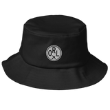 RWY23 - ORL Orlando Airport Code Bucket Hat - City-Themed Merchandise - Roundel Design with Vintage Airplane - Image 1