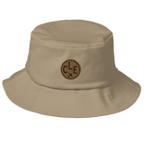 RWY23 - CLE Cleveland Airport Code Bucket Hat - City-Themed Merchandise - Roundel Design with Vintage Airplane - Image 6