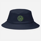 RWY23 - BWI Baltimore-Washington Airport Code Bucket Hat - City-Themed Merchandise - Roundel Design with Vintage Airplane - Image 2