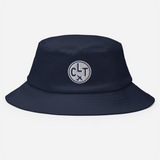 RWY23 - CLT Charlotte Airport Code Bucket Hat - City-Themed Merchandise - Roundel Design with Vintage Airplane - Image 2