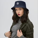 RWY23 - CLT Charlotte Airport Code Bucket Hat - City-Themed Merchandise - Roundel Design with Vintage Airplane - Image 4