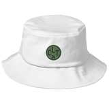 RWY23 - CLT Charlotte Airport Code Bucket Hat - City-Themed Merchandise - Roundel Design with Vintage Airplane - Image 6