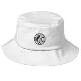 RWY23 - MKC Kansas City Airport Code Bucket Hat - City-Themed Merchandise - Roundel Design with Vintage Airplane - Image 6