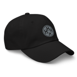 RWY23 - HHH Hilton Head Island Airport Code Dad Hat - City-Themed Merchandise - Roundel Design with Vintage Airplane - Image 6