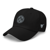 RWY23 - HHH Hilton Head Island Airport Code Dad Hat - City-Themed Merchandise - Roundel Design with Vintage Airplane - Image 7