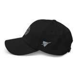 RWY23 - MSY New Orleans Airport Code Dad Hat - City-Themed Merchandise - Roundel Design with Vintage Airplane - Image 8