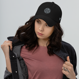 RWY23 - SLC Salt Lake City Airport Code Dad Hat - City-Themed Merchandise - Roundel Design with Vintage Airplane - Image 4