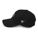 RWY23 - SLC Salt Lake City Airport Code Dad Hat - City-Themed Merchandise - Roundel Design with Vintage Airplane - Image 8