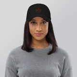 RWY23 - AUS Austin Airport Code Dad Hat - City-Themed Merchandise - Roundel Design with Vintage Airplane - Image 5