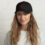 RWY23 - OGG Maui Airport Code Dad Hat - City-Themed Merchandise - Roundel Design with Vintage Airplane - Image 2
