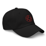 RWY23 - SFO San Francisco Airport Code Dad Hat - City-Themed Merchandise - Roundel Design with Vintage Airplane - Image 6