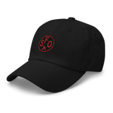 RWY23 - SFO San Francisco Airport Code Dad Hat - City-Themed Merchandise - Roundel Design with Vintage Airplane - Image 7