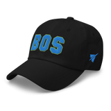 RWY23 - BOS Boston Airport Code Dad Hat - City-Themed Merchandise - Bold Collegiate Style - Image 8