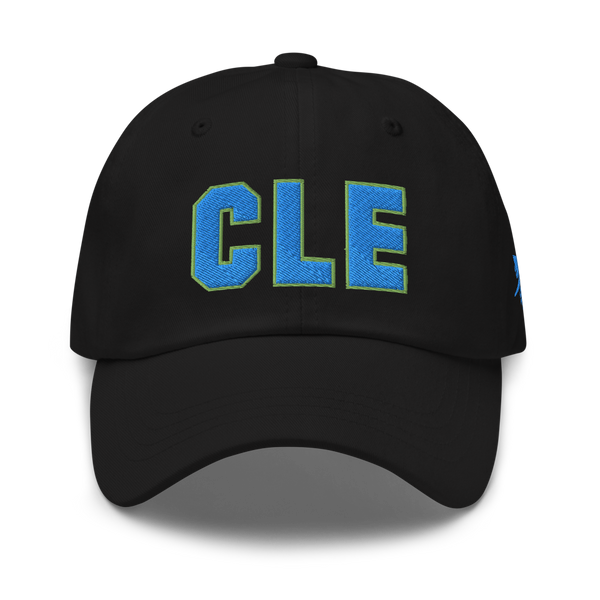 RWY23 - CLE Cleveland Airport Code Dad Hat - City-Themed Merchandise - Bold Collegiate Style - Image 1