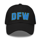 RWY23 - DFW Dallas-Fort Worth Airport Code Dad Hat - City-Themed Merchandise - Bold Collegiate Style - Image 1