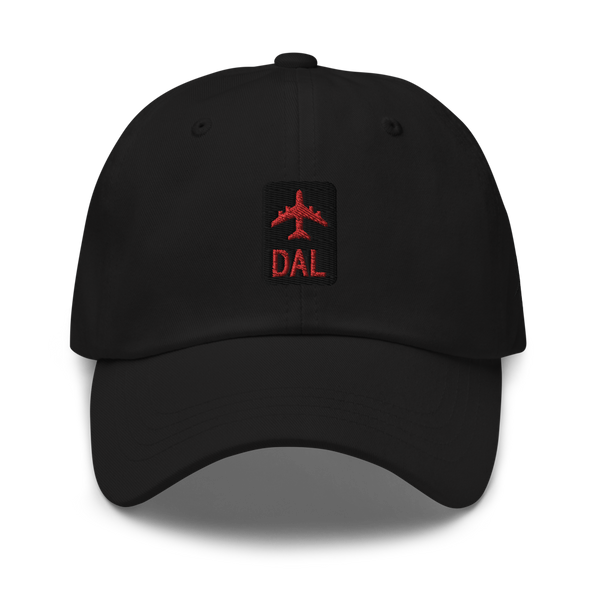 RWY23 - DAL Dallas Airport Code Dad Hat - City-Themed Merchandise - Retro Jetliner Design - Image 1