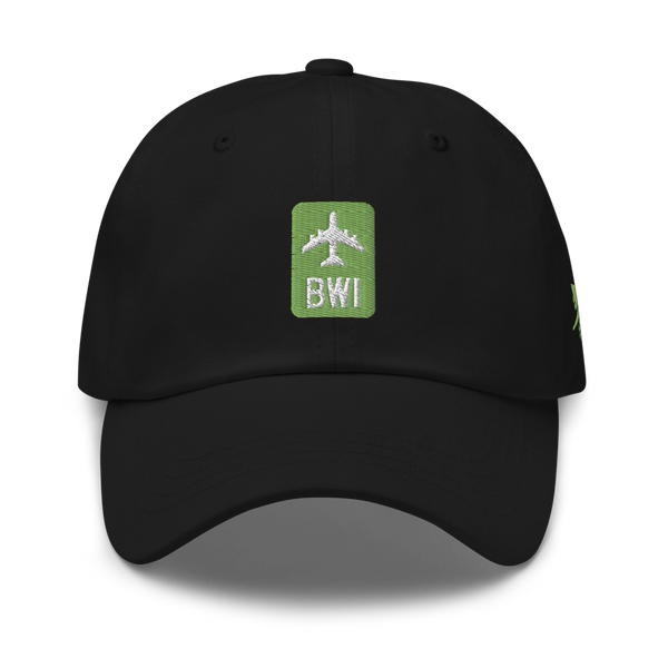 RWY23 - BWI Baltimore-Washington Airport Code Dad Hat - City-Themed Merchandise - Retro Jetliner Design - Image 6