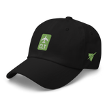 RWY23 - CLT Charlotte Airport Code Dad Hat - City-Themed Merchandise - Retro Jetliner Design - Image 8
