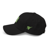 RWY23 - CLT Charlotte Airport Code Dad Hat - City-Themed Merchandise - Retro Jetliner Design - Image 9