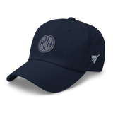 RWY23 - HHH Hilton Head Island Airport Code Dad Hat - City-Themed Merchandise - Roundel Design with Vintage Airplane - Image 11