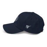RWY23 - MSY New Orleans Airport Code Dad Hat - City-Themed Merchandise - Roundel Design with Vintage Airplane - Image 12