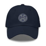 RWY23 - PHX Phoenix Airport Code Dad Hat - City-Themed Merchandise - Roundel Design with Vintage Airplane - Image 9