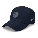 RWY23 - SLC Salt Lake City Airport Code Dad Hat - City-Themed Merchandise - Roundel Design with Vintage Airplane - Image 11