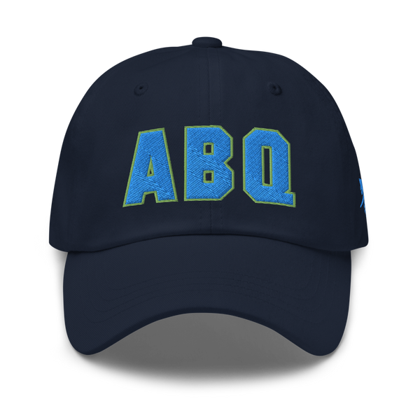 RWY23 - ABQ Albuquerque Airport Code Dad Hat - City-Themed Merchandise - Bold Collegiate Style - Image 1