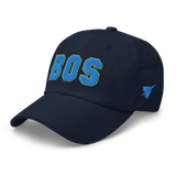 RWY23 - BOS Boston Airport Code Dad Hat - City-Themed Merchandise - Bold Collegiate Style - Image 11