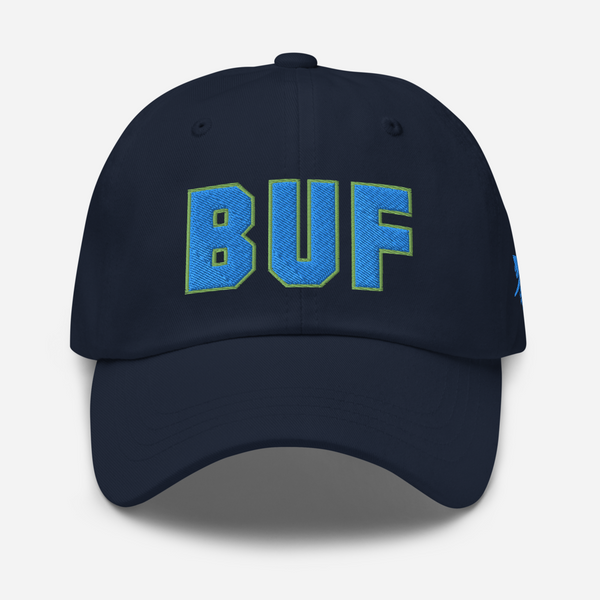 RWY23 - BUF Buffalo Airport Code Dad Hat - City-Themed Merchandise - Bold Collegiate Style - Image 1