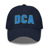 RWY23 - DCA Washington Airport Code Dad Hat - City-Themed Merchandise - Bold Collegiate Style - Image 1
