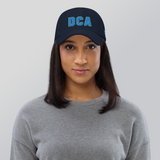 RWY23 - DCA Washington Airport Code Dad Hat - City-Themed Merchandise - Bold Collegiate Style - Image 5