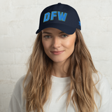 RWY23 - DFW Dallas-Fort Worth Airport Code Dad Hat - City-Themed Merchandise - Bold Collegiate Style - Image 2