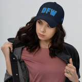 RWY23 - DFW Dallas-Fort Worth Airport Code Dad Hat - City-Themed Merchandise - Bold Collegiate Style - Image 4