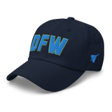 RWY23 - DFW Dallas-Fort Worth Airport Code Dad Hat - City-Themed Merchandise - Bold Collegiate Style - Image 11