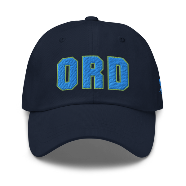 RWY23 - ORD Chicago Airport Code Dad Hat - City-Themed Merchandise - Bold Collegiate Style - Image 1