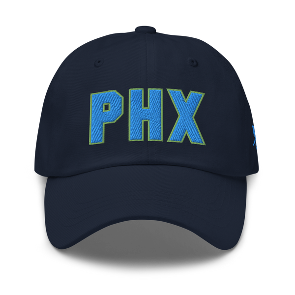 RWY23 - PHX Phoenix Airport Code Dad Hat - City-Themed Merchandise - Bold Collegiate Style - Image 1