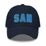 RWY23 - SAN San Diego Airport Code Dad Hat - City-Themed Merchandise - Bold Collegiate Style - Image 1