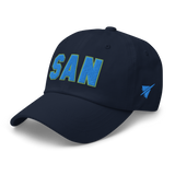RWY23 - SAN San Diego Airport Code Dad Hat - City-Themed Merchandise - Bold Collegiate Style - Image 11