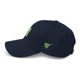 RWY23 - CLT Charlotte Airport Code Dad Hat - City-Themed Merchandise - Retro Jetliner Design - Image 12