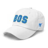 RWY23 - BOS Boston Airport Code Dad Hat - City-Themed Merchandise - Bold Collegiate Style - Image 15